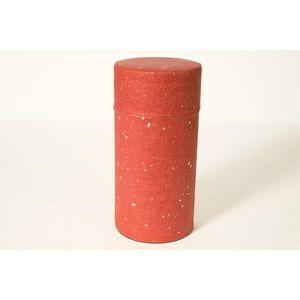 Boîte à thé washi rouge slim