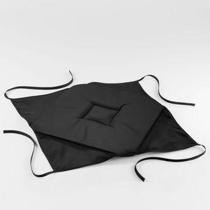 COUSSIN DE CHAISE  Galette 4 rabats 36 x 36 x 3.5 cm polyester uni es