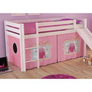 lit enfant chateau achat vente lit enfant chateau pas cher soldes cdiscount. Black Bedroom Furniture Sets. Home Design Ideas