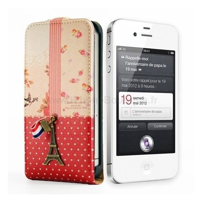 Etui housse portefeuille luxe iphone 5 5s paris achat for Etui housse iphone 5