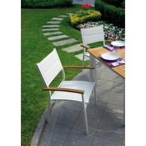 Chaise de jardin en aluminium ivoire et textile achat - Chaise de jardin aluminium ...