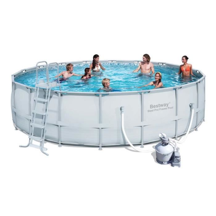 Piscine tubulaire ronde steel pro frame 5 4 achat vente kit piscine pi - Piscine tubulaire cdiscount ...