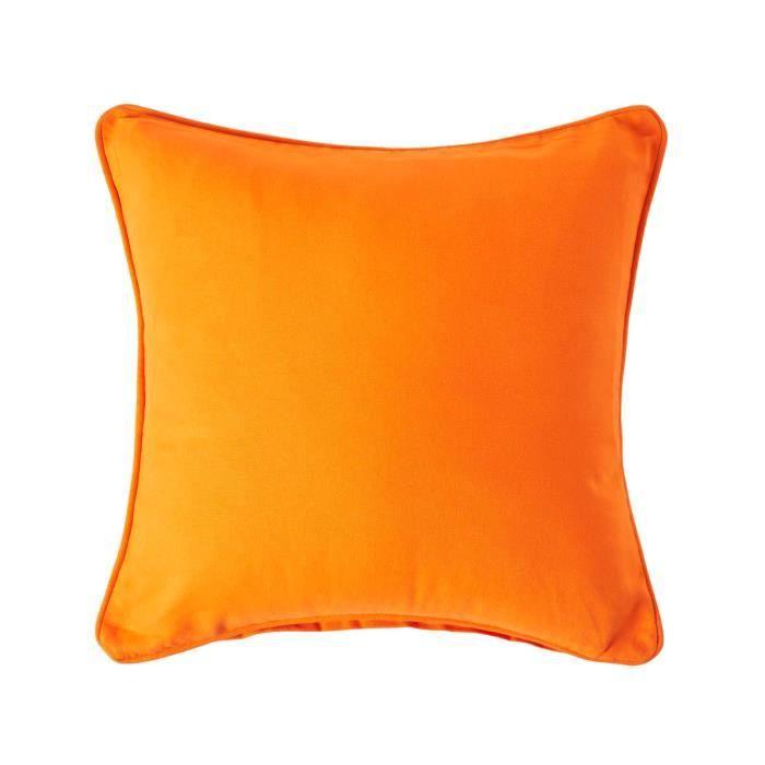 Coussin d houssable orange 45 x 45 cm achat vente - Housse de coussin 45 x 45 ...