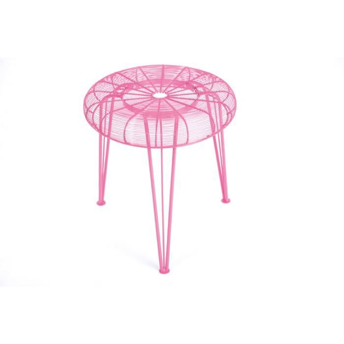 tabouret spydamo couleur rose achat vente tabouret m tal cdiscount. Black Bedroom Furniture Sets. Home Design Ideas