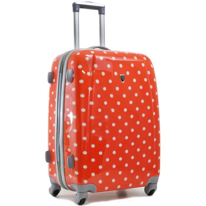 valise pois extensible 60cm orange achat vente valise bagage valise pois extensible. Black Bedroom Furniture Sets. Home Design Ideas