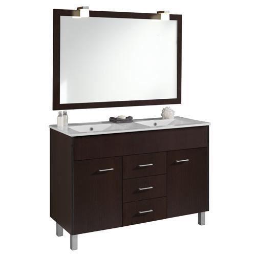 Palette de 4 meubles sur pieds 120cm bali robusto for Meuble salle de bain avec vasque sur pied