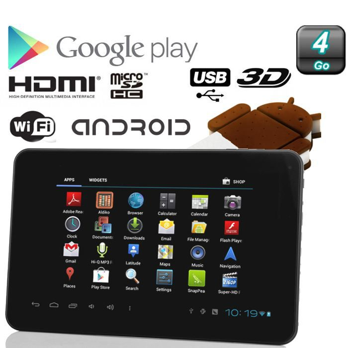 tablette tactile android 4 0 capacitif 7 39 39 1 6 achat vente tablette tactile tablette. Black Bedroom Furniture Sets. Home Design Ideas