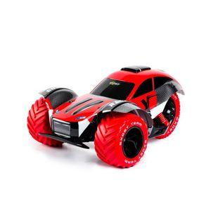 SILVERLIT Voiture Télécommandée Exost Rouge Stunt Force 1:8 - Bolide 3 roues XXL - Rouge et Noire