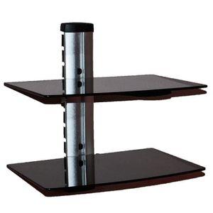 meuble tv acier et verre achat vente meuble tv acier et verre pas cher cdiscount. Black Bedroom Furniture Sets. Home Design Ideas