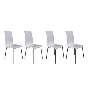 Lot 4 chaises blanches design achat vente lot 4 - Lot de 4 chaises design ...