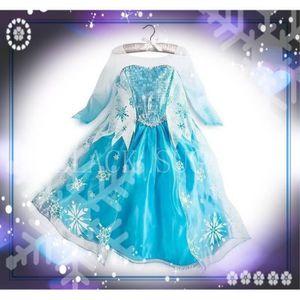 Robe elsa reine des neiges enfant 2 12 ans achat vente d guisement panoplie robe elsa - Robe elsa reine des neiges ...