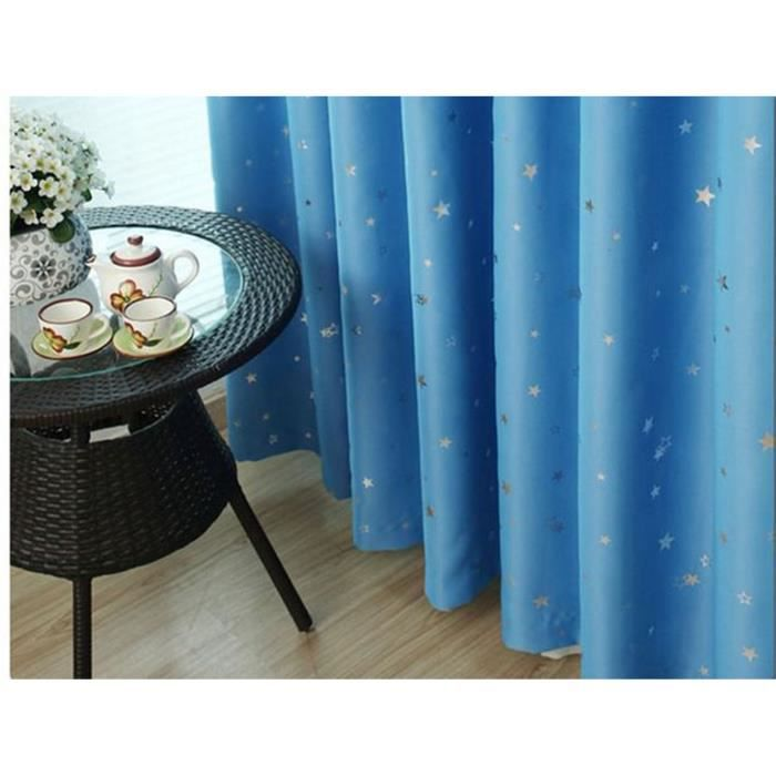 double rideaux bleu achat vente double rideaux bleu pas cher cdiscount. Black Bedroom Furniture Sets. Home Design Ideas
