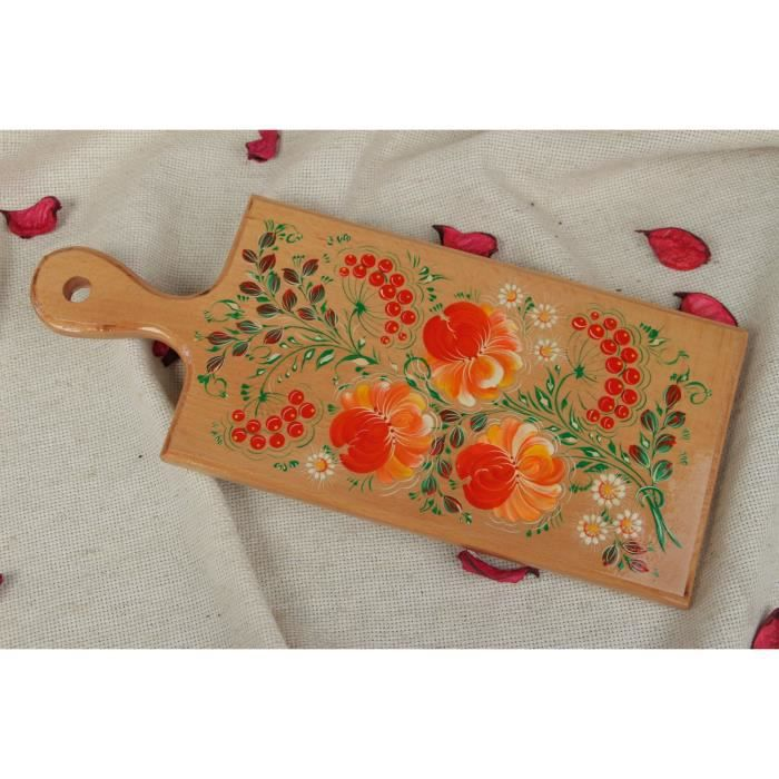 Planche d couper en bois faite main d coration de for Planche bois cuisine