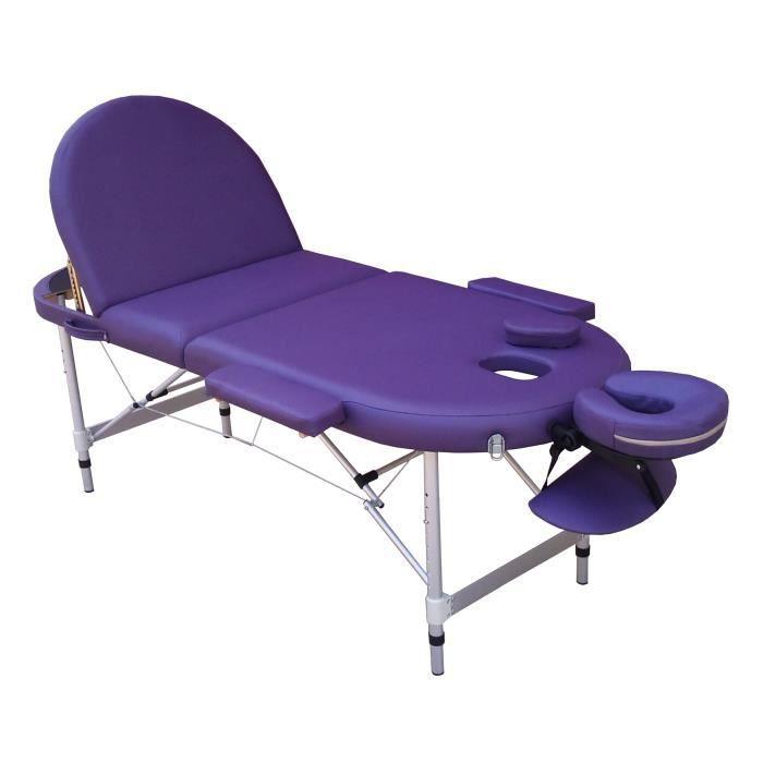 a21p table de massage violet pliante portable alu achat. Black Bedroom Furniture Sets. Home Design Ideas