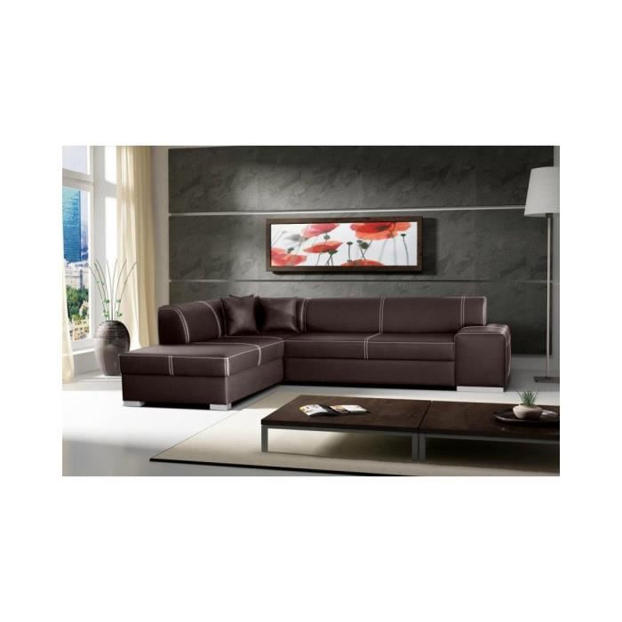 Justhome Toscania Ii Canap D 39 Angle En Cuir Cologique
