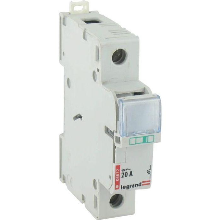 Porte fusible unipolaire legrand intensit 20 a achat vente disjoncteur les soldes sur - Le sectionneur porte fusible ...