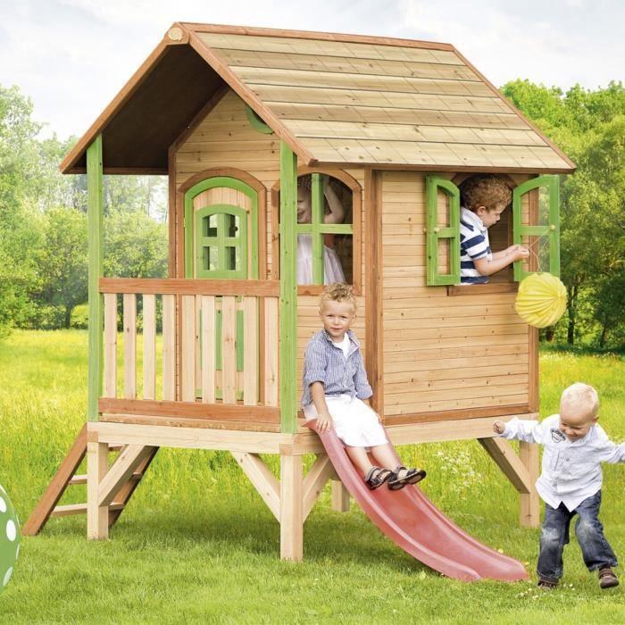 Maison de jeu tom en bois pour enfants axi achat vente for Maison plein air enfant