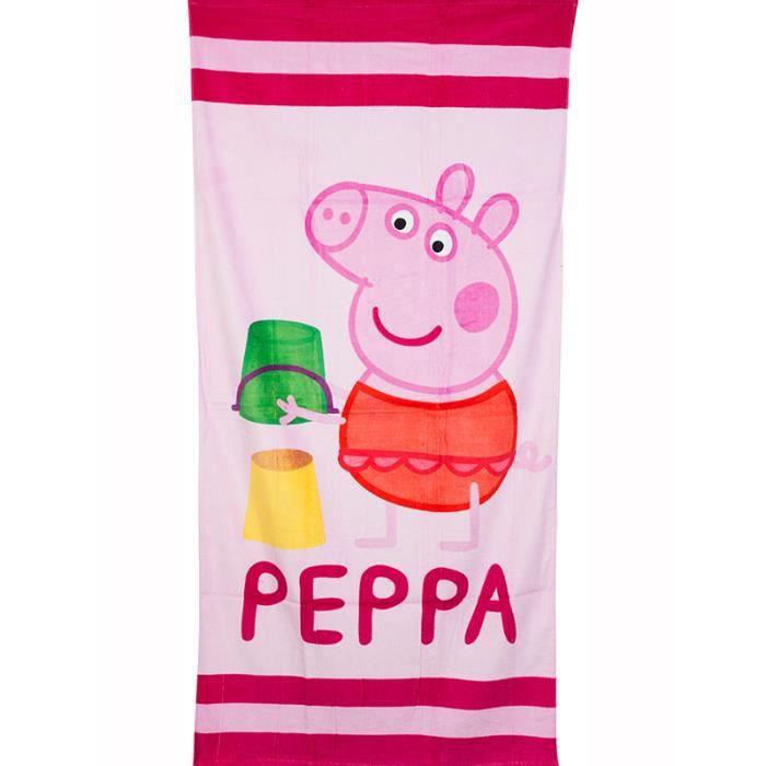 Peppa pig sandcastle serviette de plage achat vente - Peppa cochon a la plage ...