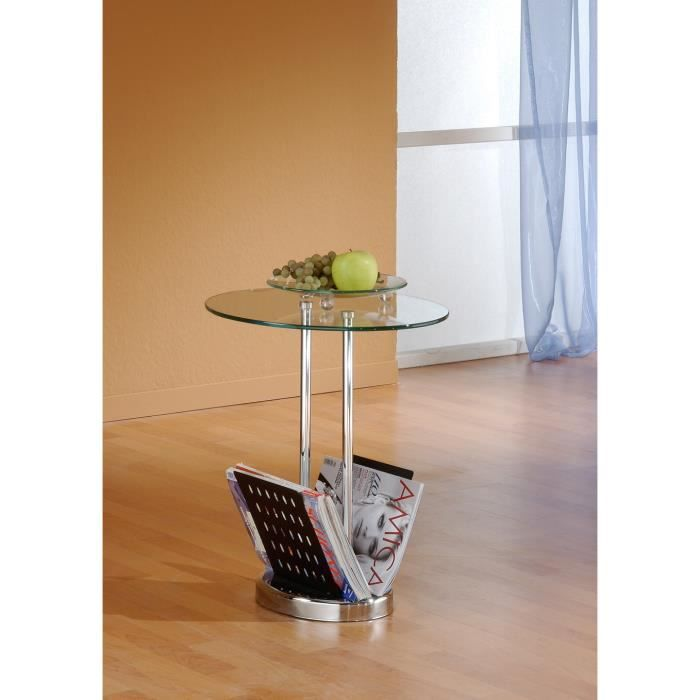 Table d 39 appoint bo verre m tal achat vente table d for Table d appoint verre