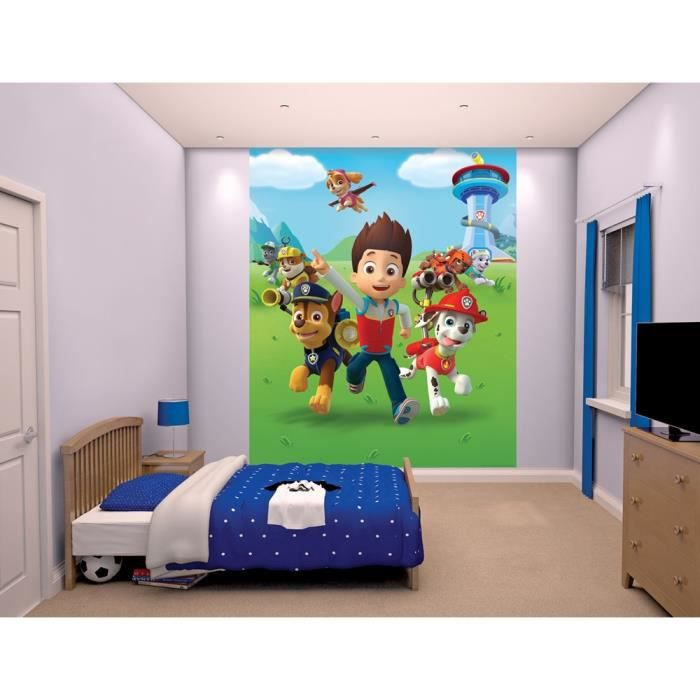 pat patrouille papier peint enfant fresque murale d corative 2 45 x 2 m achat vente affiche. Black Bedroom Furniture Sets. Home Design Ideas