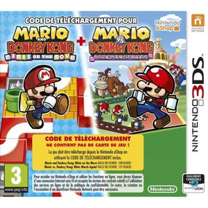 JEU 3DS Mario and Donkey Kong Minis on the Move Jeu 3DS