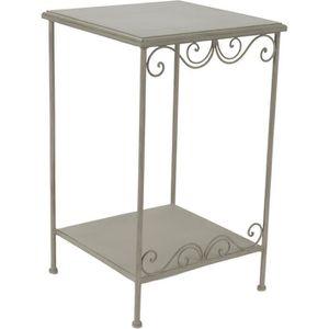 Table appoint bois et metal achat vente table appoint for Petit meuble d appoint salon
