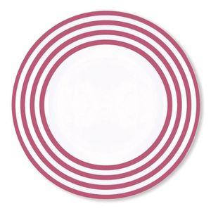 assiette plate prune