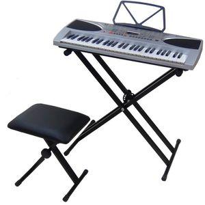 clavier piano electrique pas cher achat vente cdiscount. Black Bedroom Furniture Sets. Home Design Ideas
