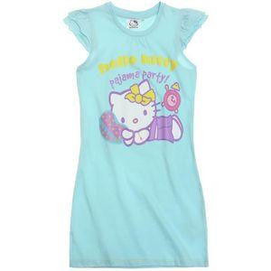 Chemise de nuit fille achat vente pas cher soldes cdiscount - Table de nuit hello kitty ...