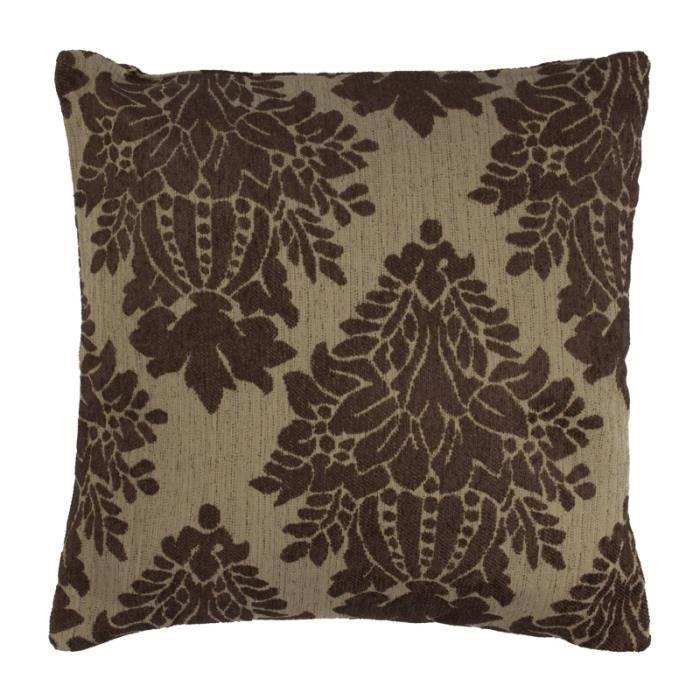 floralies coussin 43x43 marron 85722 monbeaucoussin magnifique coussin achat vente. Black Bedroom Furniture Sets. Home Design Ideas