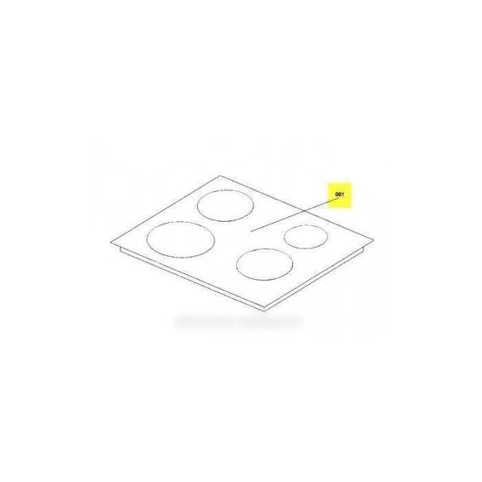 dessus verre avec encadrement pour plaque vitro ceram pour. Black Bedroom Furniture Sets. Home Design Ideas