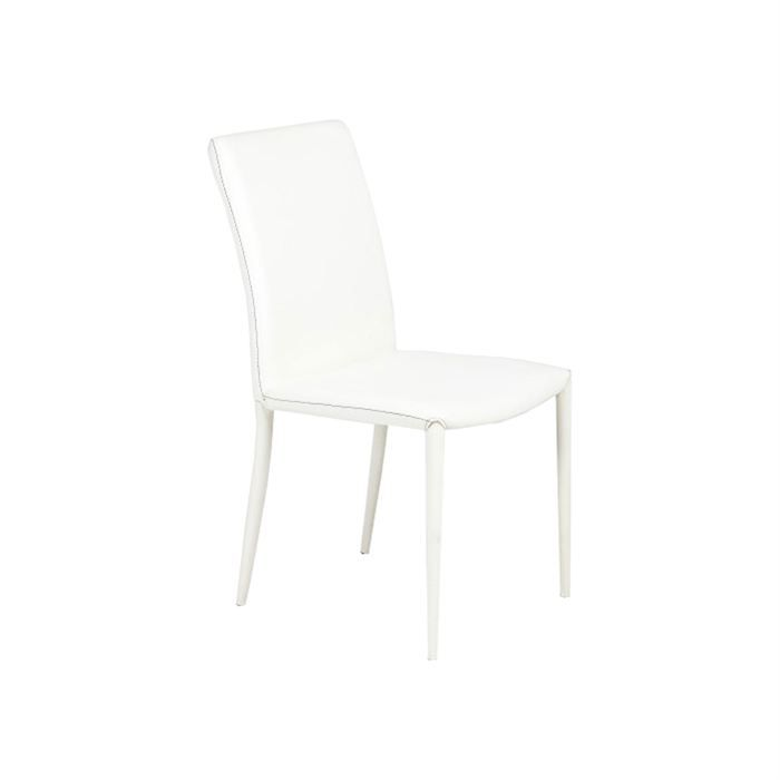 Lot de 2 chaises blanches modernes jody achat vente for Chaises blanches modernes