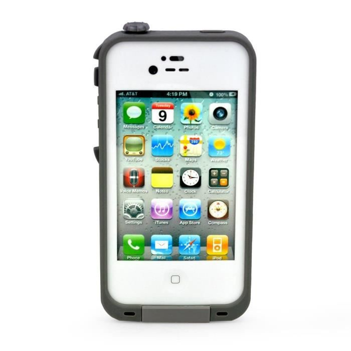 coque tanche waterproof pour iphone 4 blanc achat. Black Bedroom Furniture Sets. Home Design Ideas