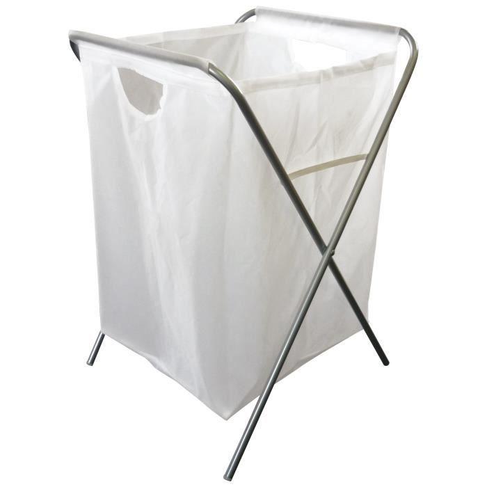 panier a linge steel chrome achat vente panier a linge. Black Bedroom Furniture Sets. Home Design Ideas