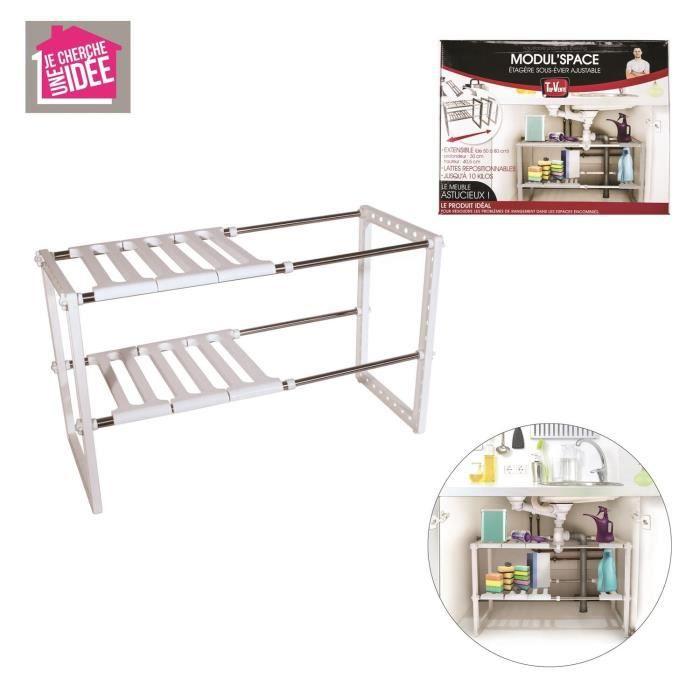 rangement sous evier achat vente rangement sous evier pas cher les soldes sur cdiscount. Black Bedroom Furniture Sets. Home Design Ideas