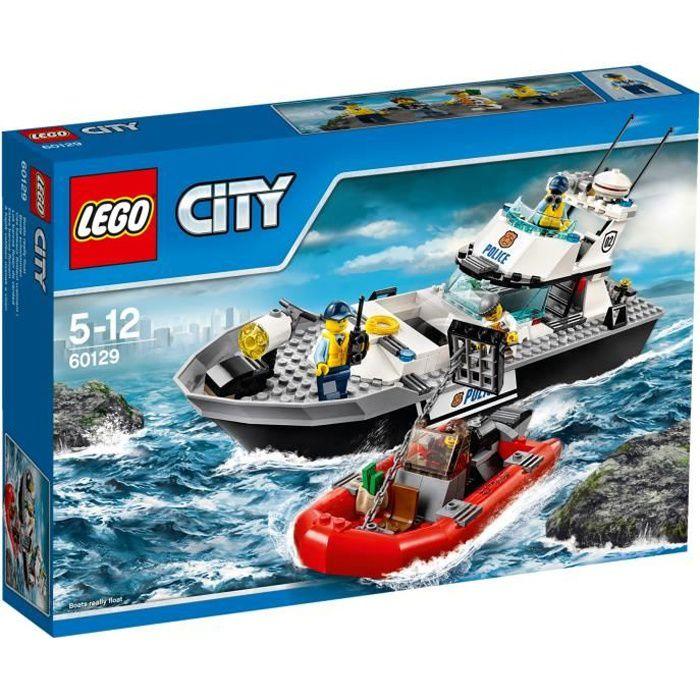 60129-Le bateau de patrouille de la police de LEGO