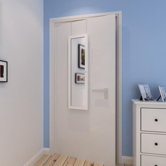 Armoire bijoux de porte avec miroir accrocher sur le mur ou la porte de ran - Miroir avec porte bijoux ...