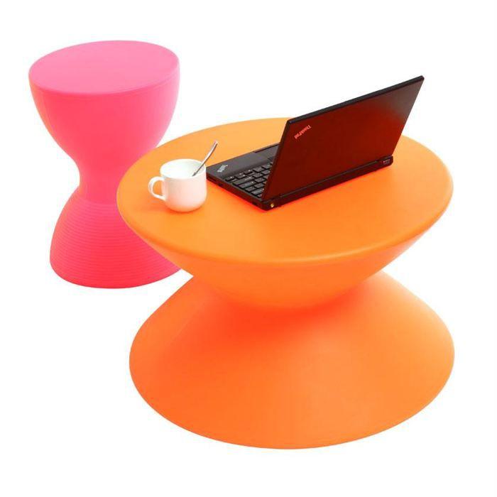 table basse design orange ida achat vente table basse. Black Bedroom Furniture Sets. Home Design Ideas