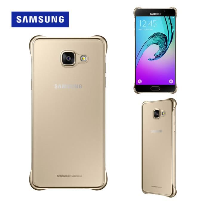 samsung clear cover a510f galaxy a5 2016 gold achat coque bumper pas cher avis et. Black Bedroom Furniture Sets. Home Design Ideas