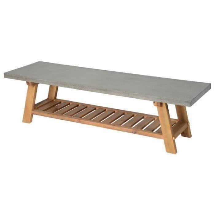 Meuble bois beton achat vente meuble bois beton pas for Meuble tv gris beton