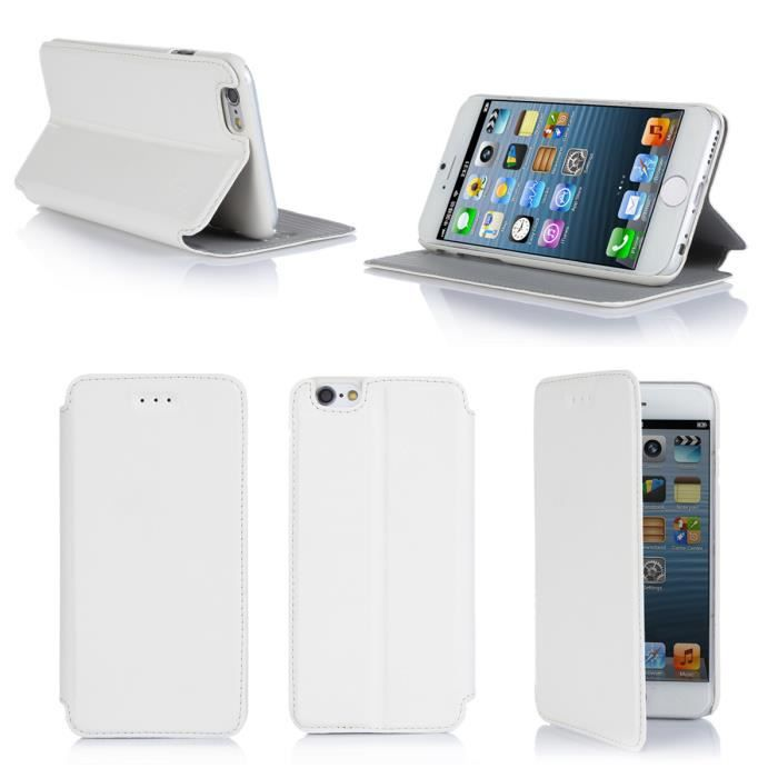 Etui coque apple iphone 6 4 7 pouces blanc housse achat for Housse iphone 6 luxe