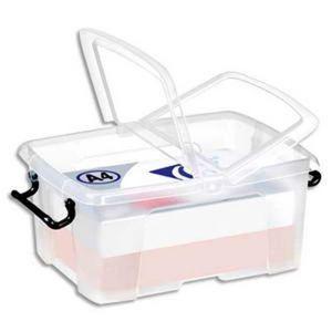 Mallette de rangement documents achat vente mallette - Boite de rangement plastique avec couvercle pas cher ...