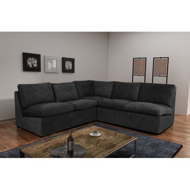 canap avanti noir 6 places modulable canap sofa divan achat vente canap sofa divan. Black Bedroom Furniture Sets. Home Design Ideas