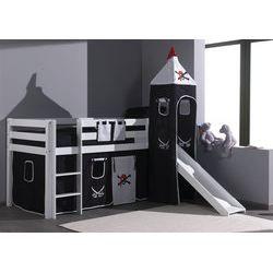 lit sur lev enfant avec toboggan habillage p achat. Black Bedroom Furniture Sets. Home Design Ideas