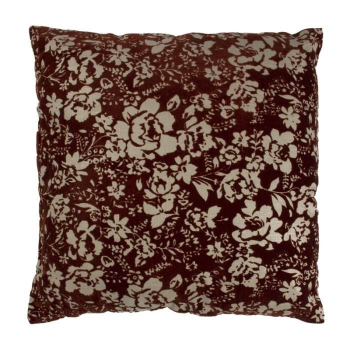 floralie coussin 50x50 marron monbeaucoussin achat vente coussin cdiscount. Black Bedroom Furniture Sets. Home Design Ideas