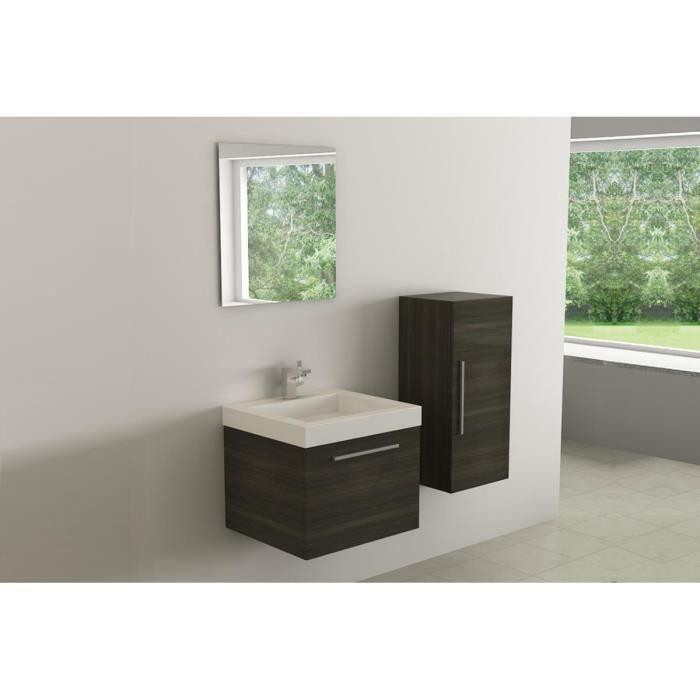 Meuble de salle de bains 1 vasque 1 colonne 1 m achat for Meuble vasque colonne