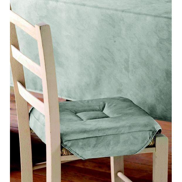 Galette de chaise 4 rabats beton cire gris clair achat for Galette de chaise 4 rabats