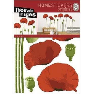 Stickers muraux adhesif mural xxl coquelicots achat - Decoration stickers muraux adhesif ...