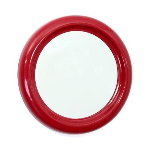 Miroir pvc rond 30cm rouge achat vente miroir pvc for Miroir rouge