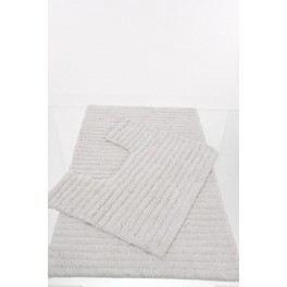 Tapis de salle de bain contour wc blanc achat vente - Tapis pour salle de bain ...